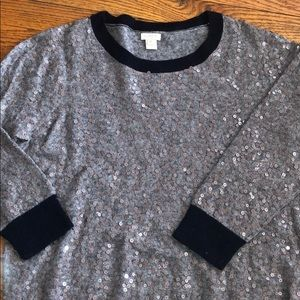 J. Crew Sequined Sweater XL